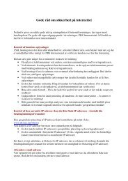 Gode råd om sikkerhed på internettet - Nets