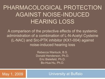 pharmacological protection against noise-induced hearing loss
