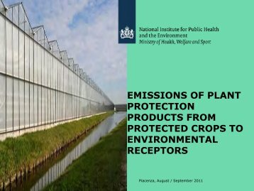 emissions of plant protection products from protected crops to ...
