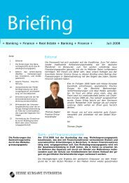 Editorial Bank- und Finanzierungsrecht + Banking + ... - Eversheds