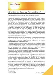 Studien zu Energy Psychology® (PDF-Format)