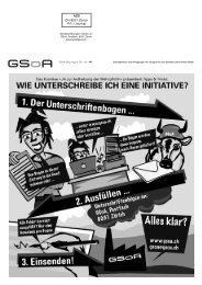 AZB CH-8031 Zürich P.P. / Journal - Gruppe für eine Schweiz ohne ...