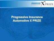 Progressive Insurance Automotive X PRIZE - Low Carbon Fuels ...