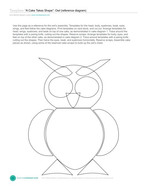 Template A Cake Takes Shape Owl Martha Stewart Living