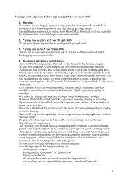 1 Verslag van de Algemene Leden vergadering d.d. 17 november ...