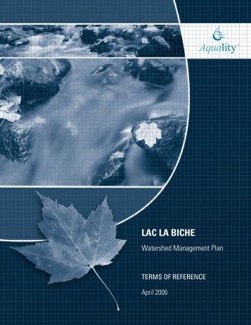 White, J.S. 2006. Lac La Biche Watershed Management Plan Terms ...