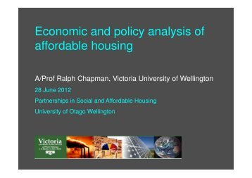 Economics of affordable housing - New Zealand Centre for ...