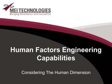 Human Factors Engineering Capabilities