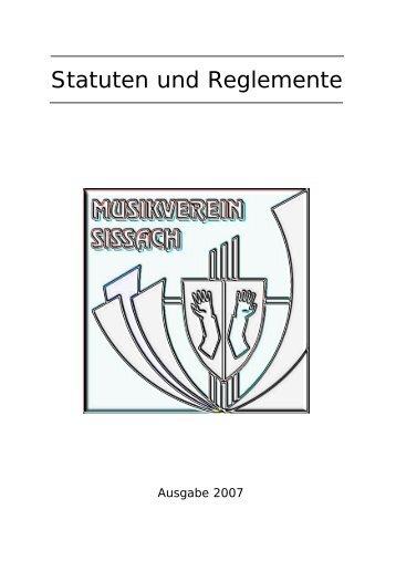 Statuten und Reglemente - Musikverein Sissach
