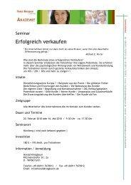 Erfolgreich verkaufen - HaraldKriegbaum.de