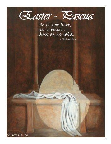 April 8, 2012 - St. James and St. Leo Catholic Community