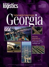 Fueling Logistics Competitiveness - The Georgia Center of ...