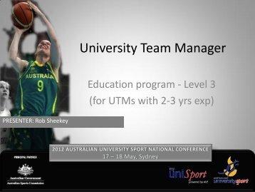 Succession planning - Australian University Sport