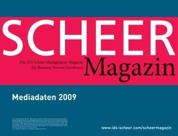 Mediakit2009_Scheer_Magazin_210x160mm ... - IDS Scheer AG