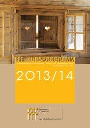 FFF Kursprogramm 2013 - Schweizerischer Fachverband Fenster ...