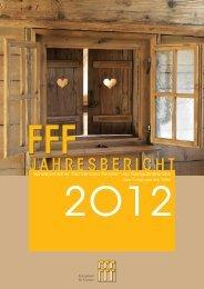 FFF Jahresbericht 2012 - Schweizerischer Fachverband Fenster ...