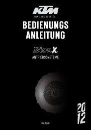 BEDIENUNGS ANLEITUNG - KTM