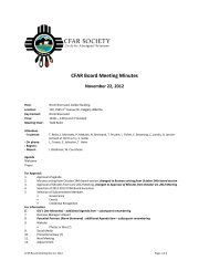 Board meeting - Nov 22, 2012 - CFAR Society