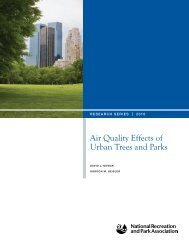 Air Quality Effects of Urban Trees and Parks - National Recreation ...