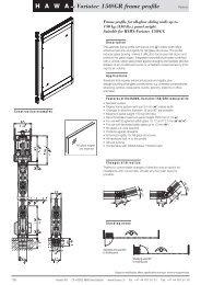 HAWA Variotec 150/GR frame profile