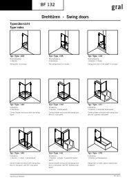 BF 132 Drehtüren - Swing doors - Glas und Spiegel Shop