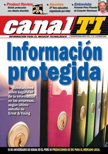 Product Review Revelaciones sobre seguridad de la ... - Canal TI