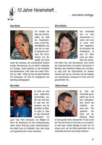 10 Jahre Vereinsheft … - Musikverein Sissach