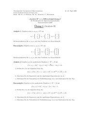 ¨Ubung 1 (Analysis II) - Technische Universität Braunschweig