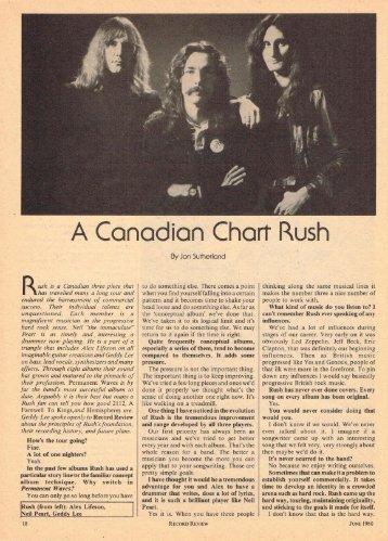 A Canadian Chart Rush - Cygnus-X1.Net