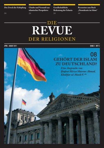 Revue der Religionen - April/August 2011 - Ahmadiyya Muslim ...
