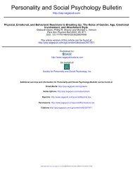 Personality and Social Psychology Bulletin - University of Toronto