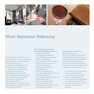 Staal Signatuur Rekening - Staalbankiers