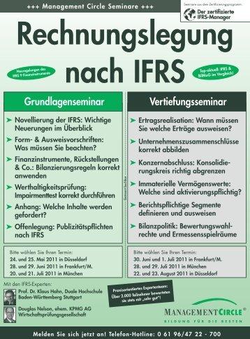 Seminar: Rechnungslegung nach IFRS - Management Circle AG