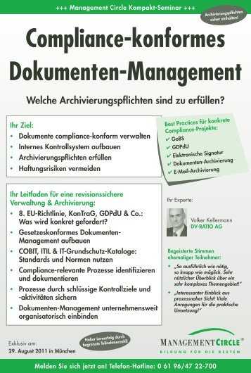 Seminar: Compliance-konformes Dokumenten-Management ...