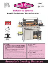 Australia's Leading Barbecue - BeefEater Barbecues UK