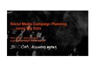 Social Media Campaign Planning …..using Big Data - ICMS