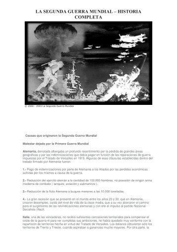 LA SEGUNDA GUERRA MUNDIAL – HISTORIA ... - Bibliocuba