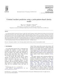 Criminal incident prediction using a point-patterb-based density model