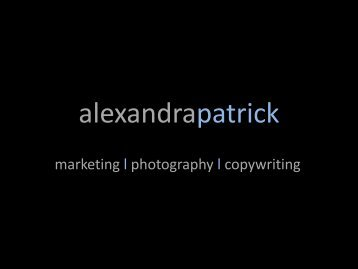 Our commitment - AlexandraPatrick
