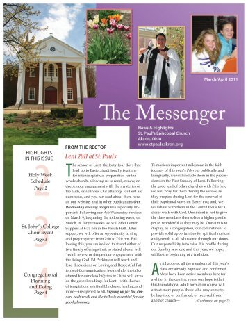 Download the March-April 2011 Edition - St. Paul's Episcopal Church