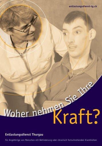 Flyer Kraft? - Entlastungsdienst Thurgau