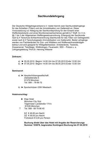 Sachkundelehrgang - Deutscher-Wildgehege-Verband eV