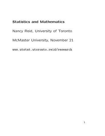 McMaster University - University of Toronto