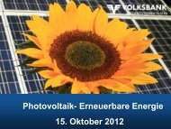 photovoltaik-erneuerbare energie - Volksbank Niederösterreich Süd