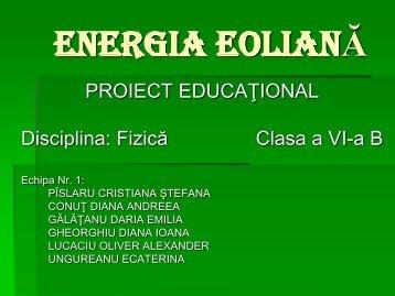 ENERGIA EOLIANĂ - CNRV