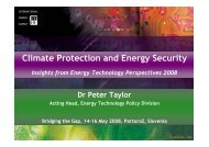 Climate Protection and Energy Security - Bridging the Gap