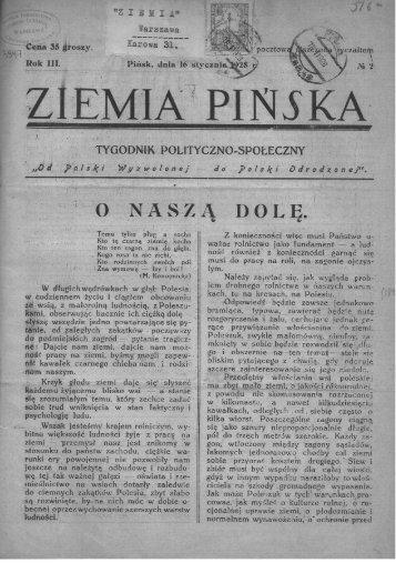 """Page 1 Page 2 Áludzi 2y - ' ' """"zlEMlA PINSKA' """"5&2 szko lamî i ..."""