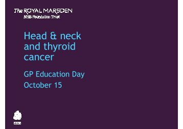 Introduction - The Royal Marsden Hospital