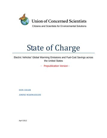 State of Charge: Electric Vehicles' Global ... - KTA Services Inc.