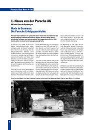 1. Neues von der Porsche AG - Porsche Club Verband Österreich